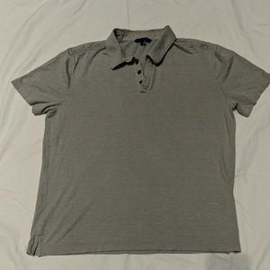 Silk/cotton blend polo shirt